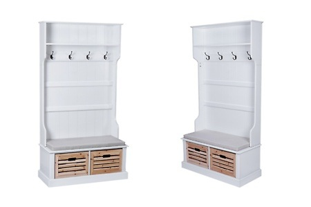 miadomodo garderobe mit sitzbank dealmix. Black Bedroom Furniture Sets. Home Design Ideas