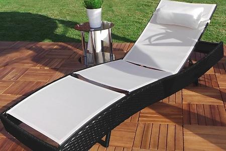 sonnenliege aus polyrattan dealmix. Black Bedroom Furniture Sets. Home Design Ideas