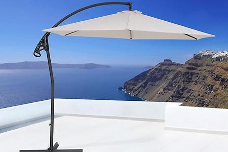 gro er sonnenschirm mit stahlrohr dealmix. Black Bedroom Furniture Sets. Home Design Ideas