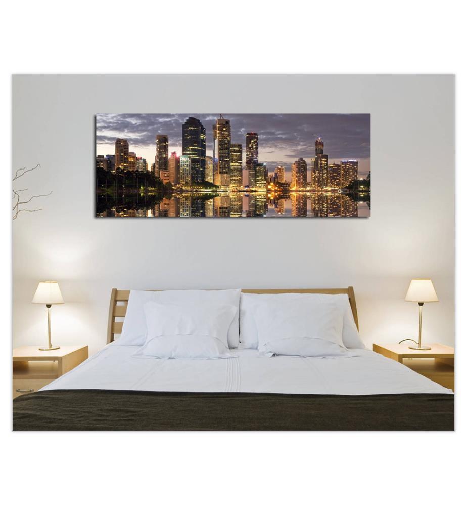 tableau sur toile 30 x 80 cm dealmix. Black Bedroom Furniture Sets. Home Design Ideas