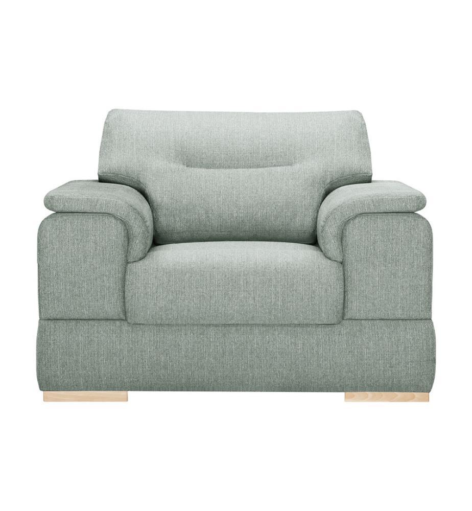fauteuil madeiro vert d eau et brun clair dealmix. Black Bedroom Furniture Sets. Home Design Ideas