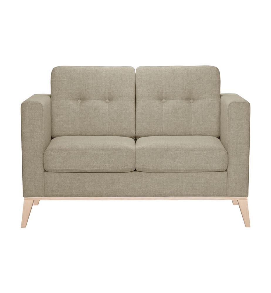 canap 2 places recife beige clair et brun clair dealmix. Black Bedroom Furniture Sets. Home Design Ideas