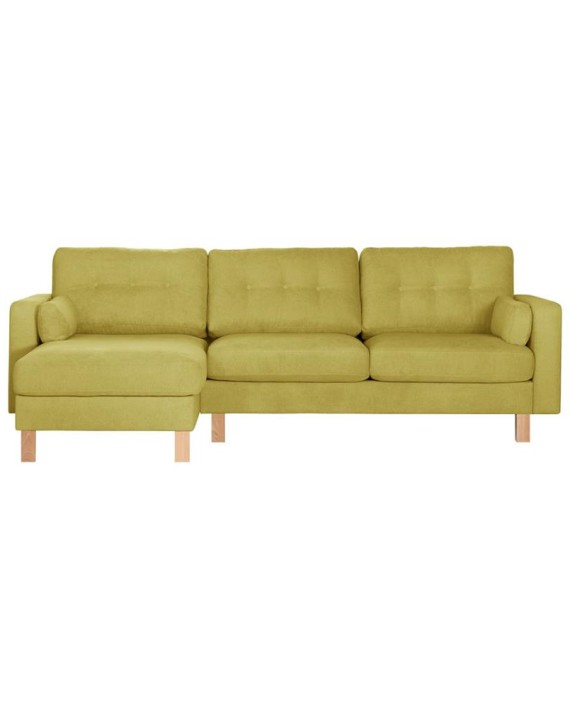 canap d angle gauche lagoa jaune fonc et brun clair dealmix. Black Bedroom Furniture Sets. Home Design Ideas