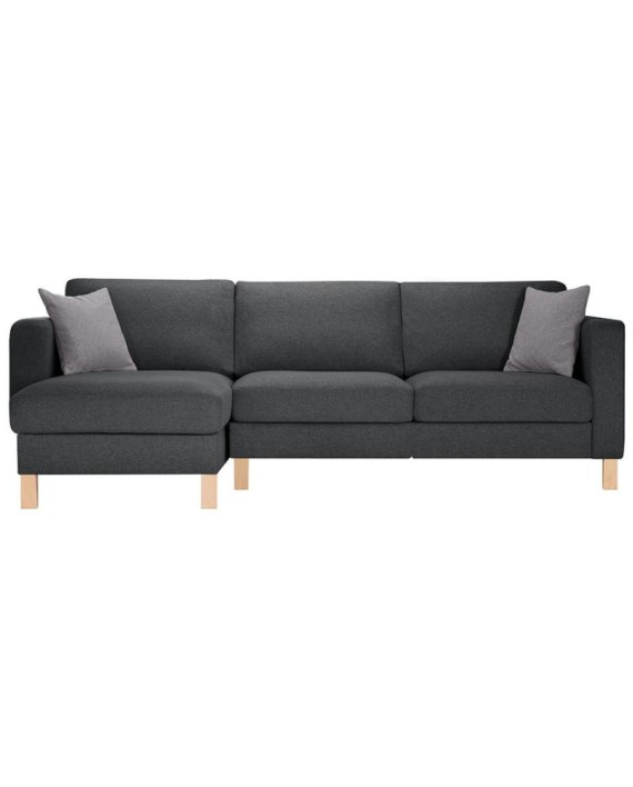 canap d angle gauche canoa anthracite et gris clair. Black Bedroom Furniture Sets. Home Design Ideas