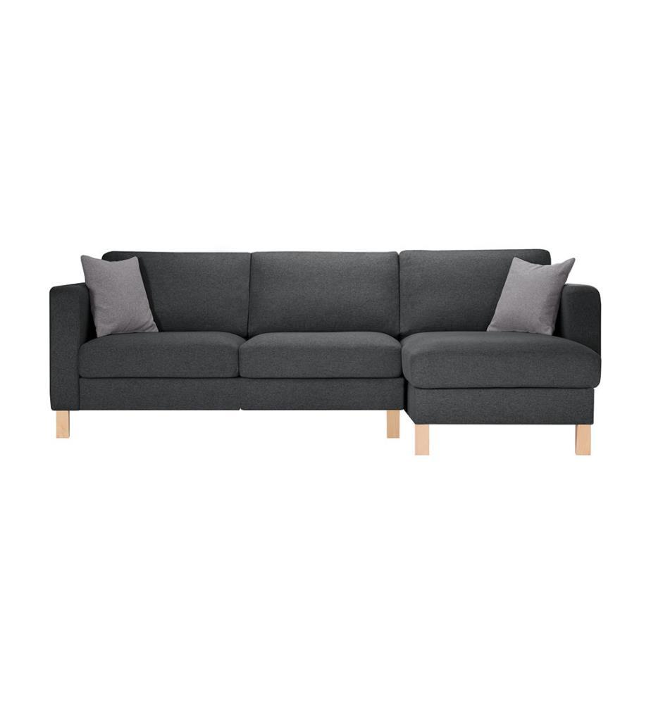 canap d angle droit canoa anthracite et gris clair. Black Bedroom Furniture Sets. Home Design Ideas