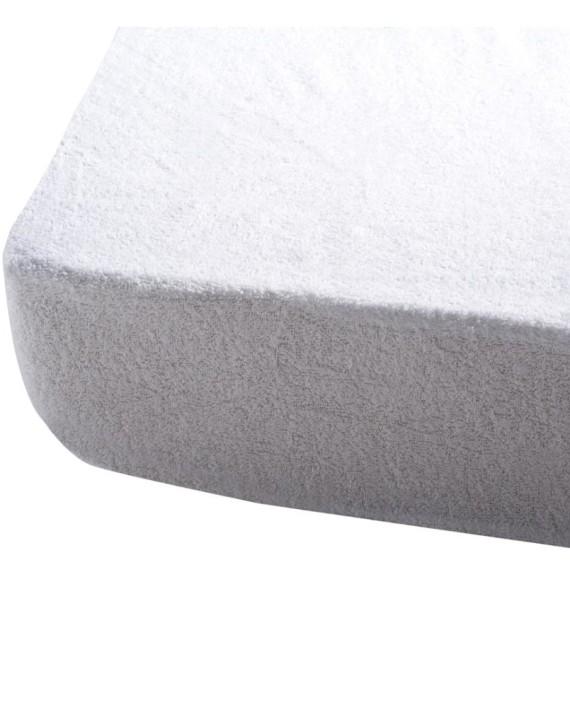 drap housse 60 x 120 cm blanc dealmix. Black Bedroom Furniture Sets. Home Design Ideas