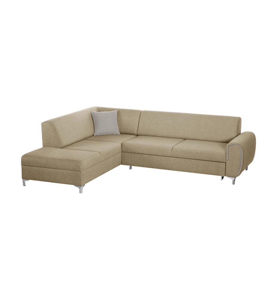 canap d angle gauche convertible contour beige dealmix. Black Bedroom Furniture Sets. Home Design Ideas