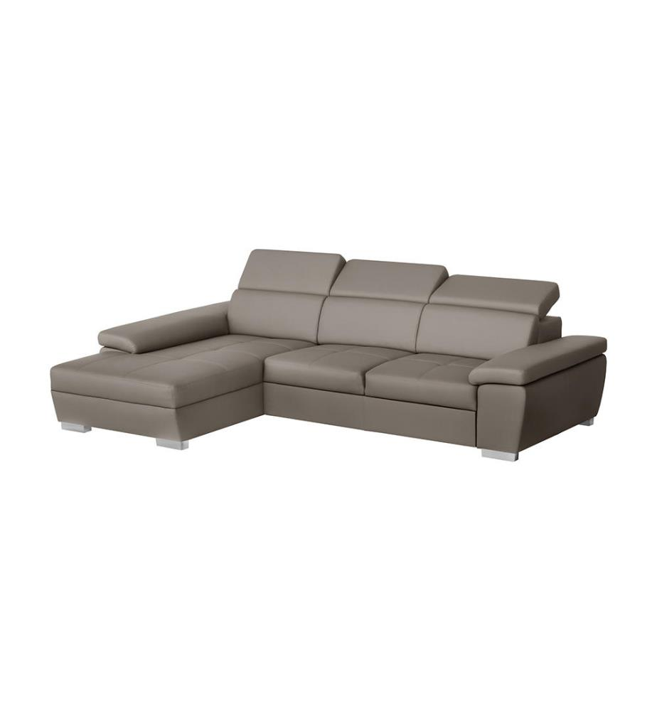 Canap d angle gauche convertible twinset taupe dealmix - Canape d angle convertible taupe ...