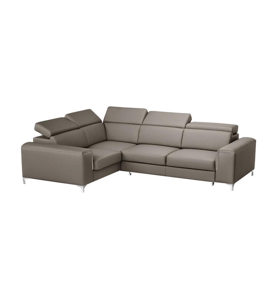canap d angle gauche convertible backstage taupe dealmix. Black Bedroom Furniture Sets. Home Design Ideas