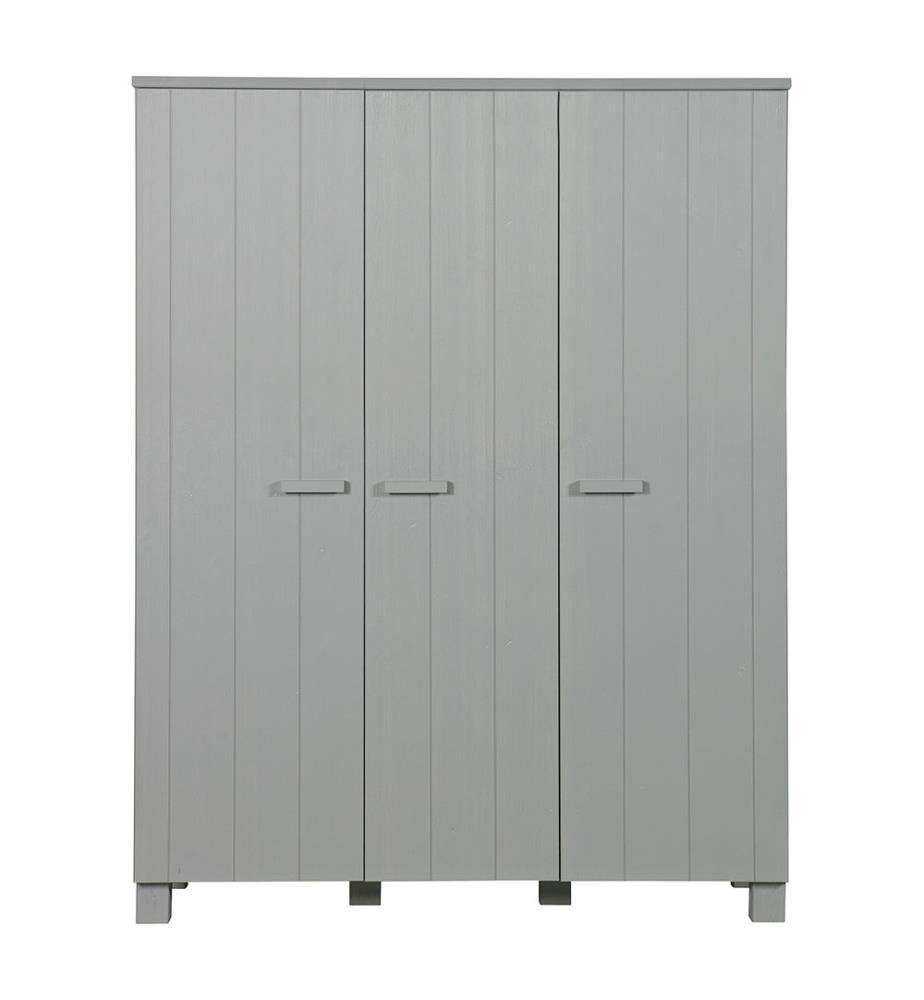 armoire en bois luuk gris clair dealmix. Black Bedroom Furniture Sets. Home Design Ideas