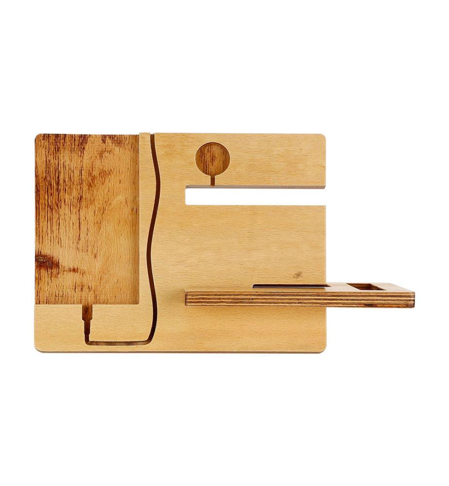 organisateur de bureau en bois brun clair dealmix. Black Bedroom Furniture Sets. Home Design Ideas