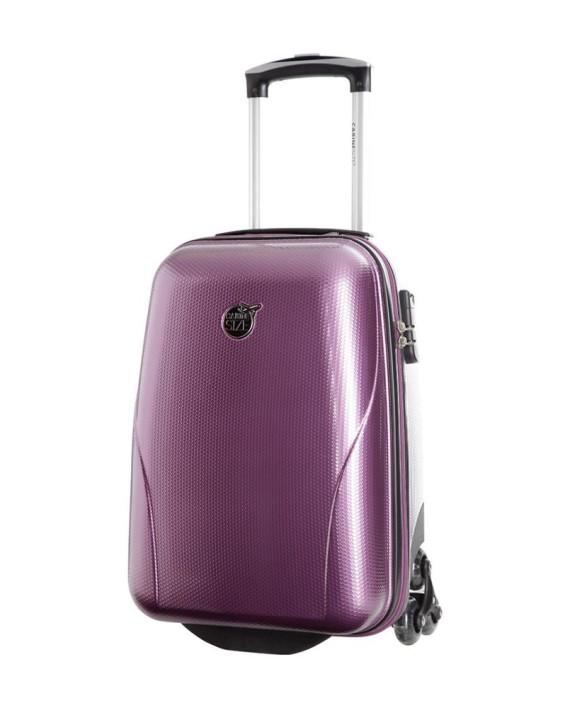 valise cabine size 45 cm violet dealmix. Black Bedroom Furniture Sets. Home Design Ideas