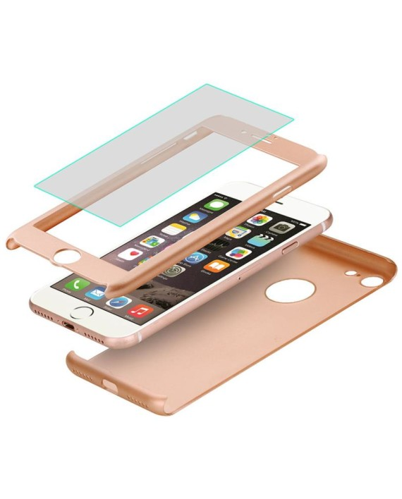 coque rigide iphone 7 dor et transparent dealmix. Black Bedroom Furniture Sets. Home Design Ideas
