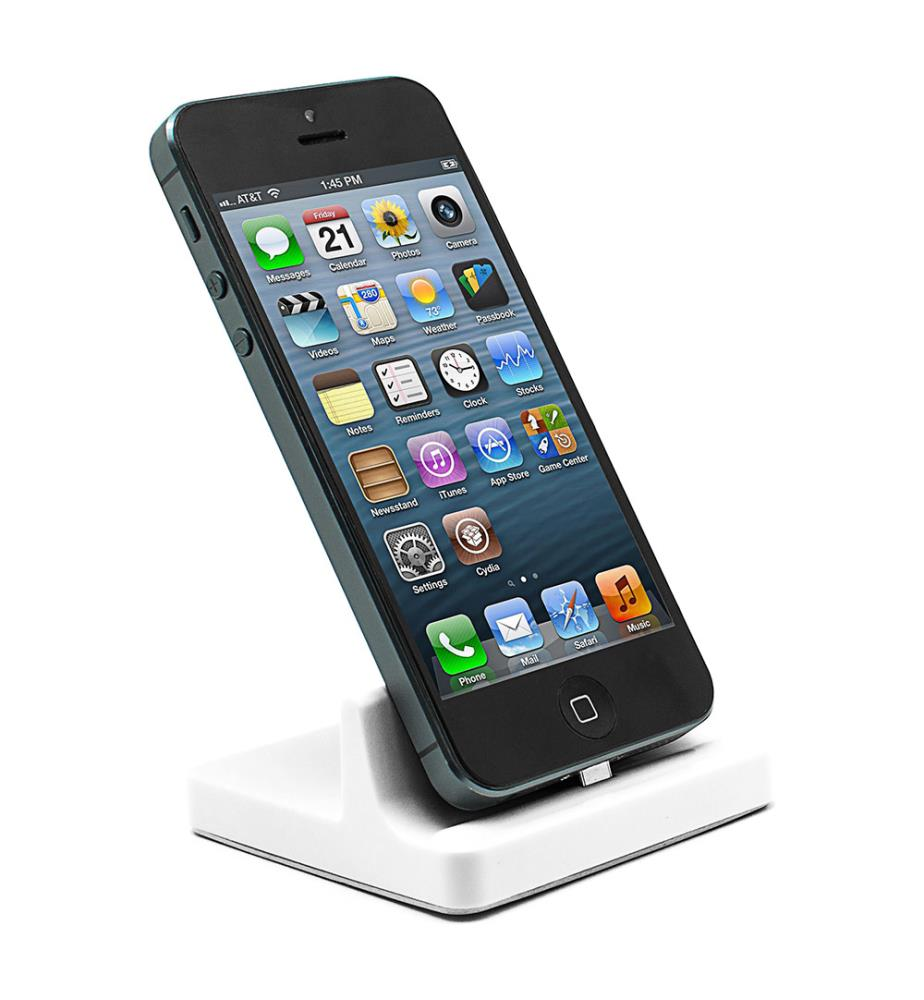 socle iphone ipad blanc dealmix. Black Bedroom Furniture Sets. Home Design Ideas