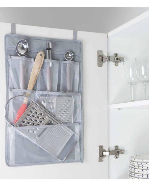 rangement de cuisine suspendu gris dealmix. Black Bedroom Furniture Sets. Home Design Ideas