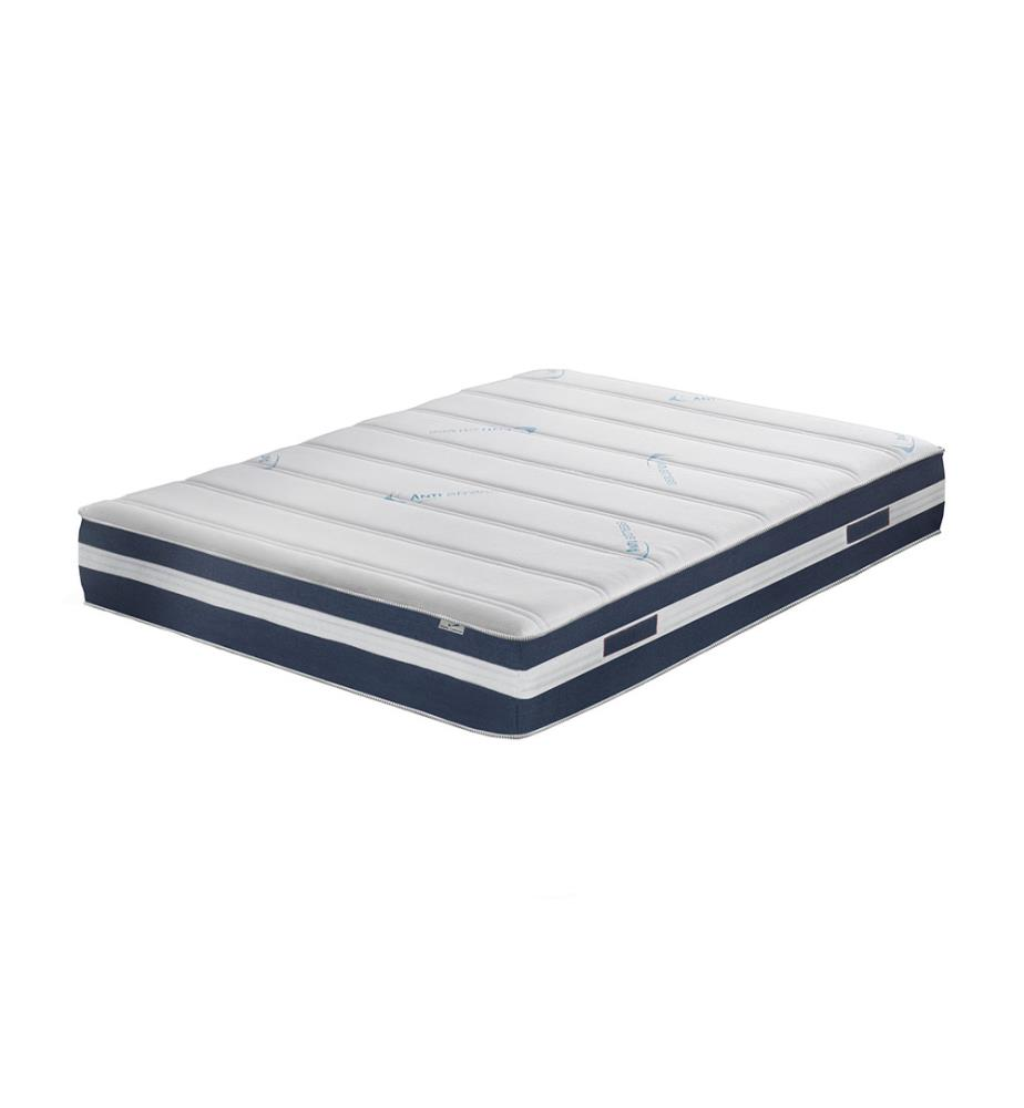 matelas venus 140 x 200 cm blanc et marine dealmix. Black Bedroom Furniture Sets. Home Design Ideas